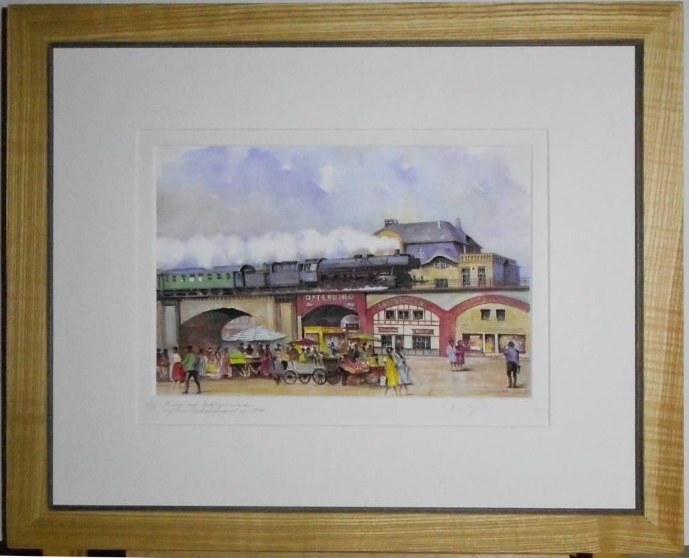 Mülheim an der Ruhr mit Dampflok von Paul Gehrmann